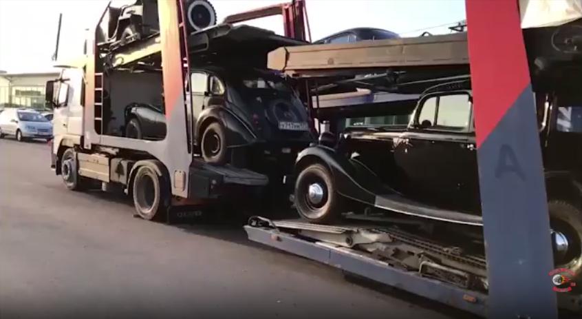 """Техника с уникальными ретро автомобилями времён индустриализации , стартовала на Байк-Шоу """"Русский Реактор"""""""